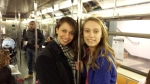 My girls on the NYC subway