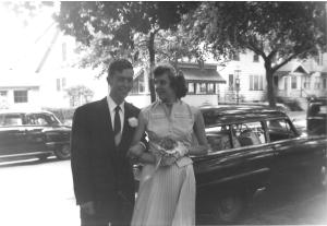 Mom & Dad on their big day - August 1, 1954